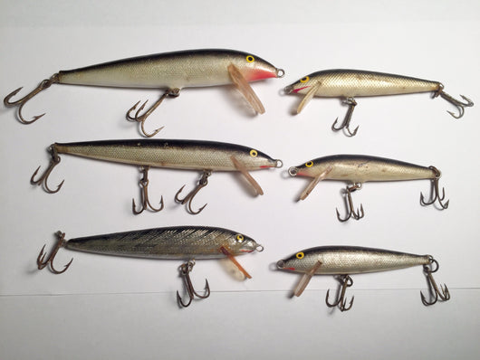 Rapala Minnows Lot of 6 for one Price!