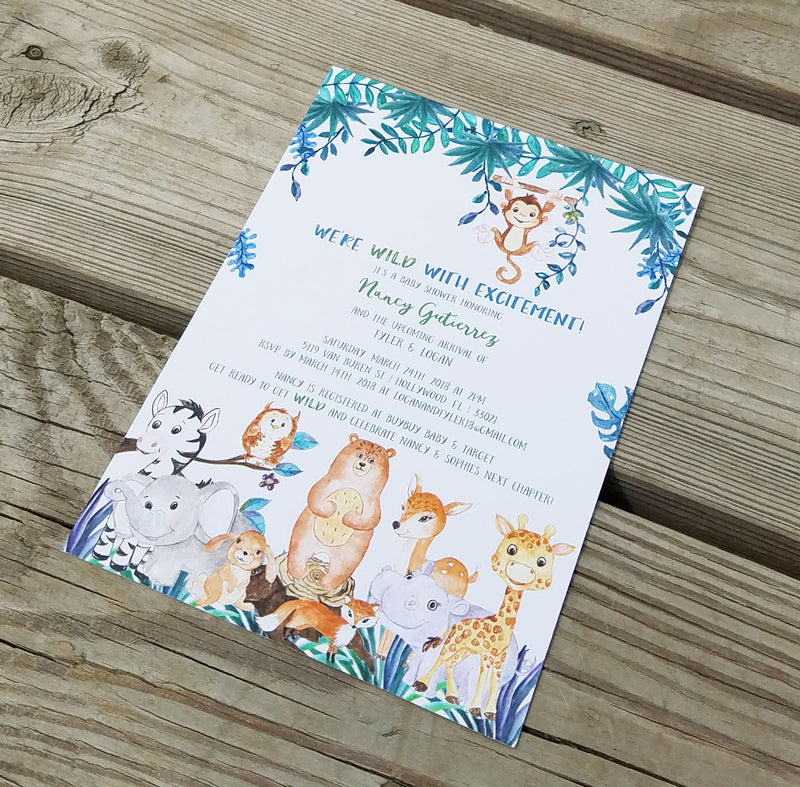 Animal Baby Shower Invitation
