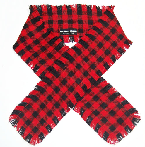 Buffalo Check Plaid Flannel Scarf