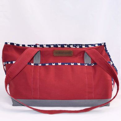 Crimson/Grey/Frenchies Wally Tote