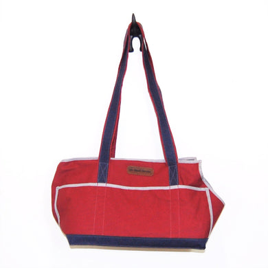 Crimson/Navy Blue/Polka Dots Wally Tote