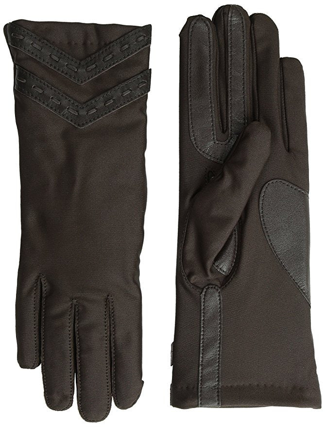 Isotoner Women's Smartouch Thinsulate Spandex Glove with Laced Chevrons XL