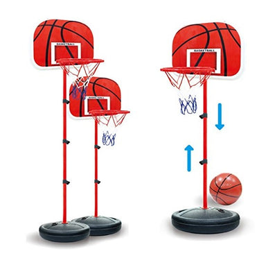 165/207cm. Basketball Stand Set, Red and Dark Blue