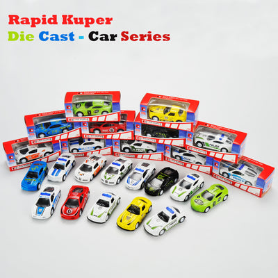 Die Cast - Car Series, Color White Orange