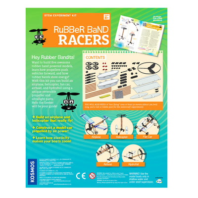 Rubber Band Racers, STEM Experiment Kits