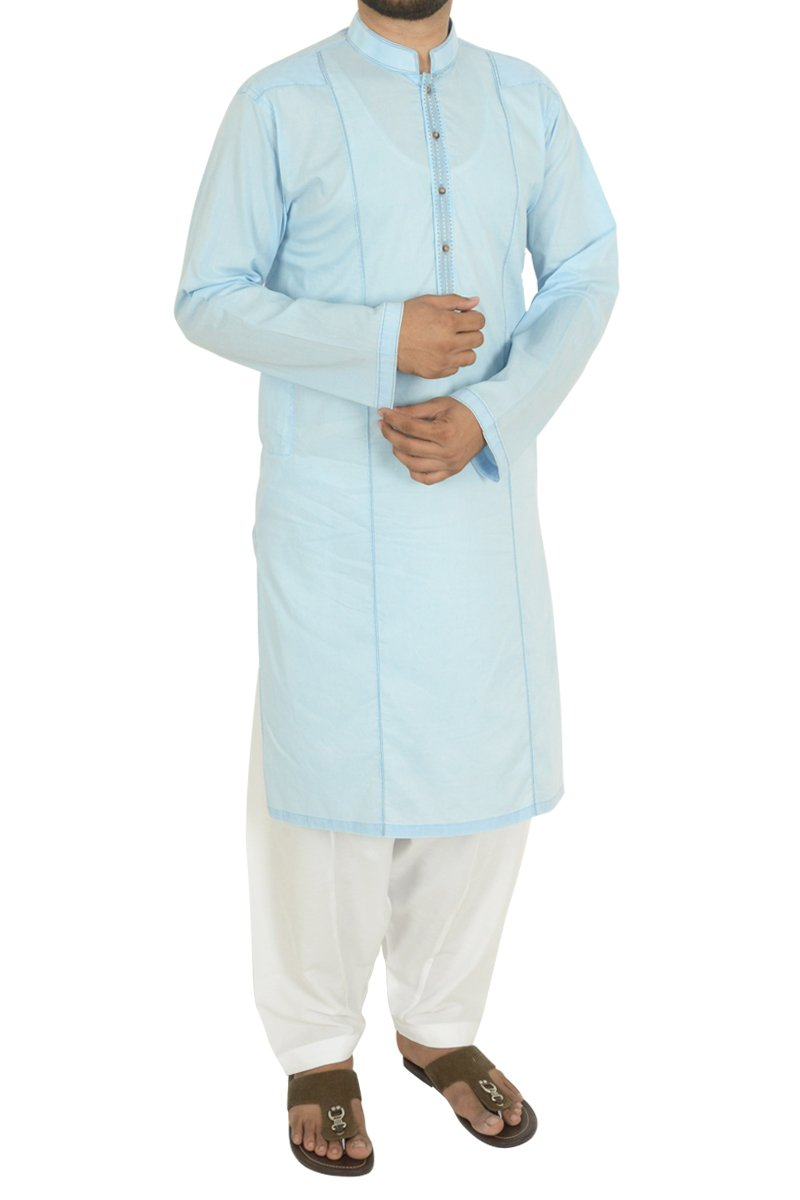 Summer Blue Kurta For Men RDK-40105