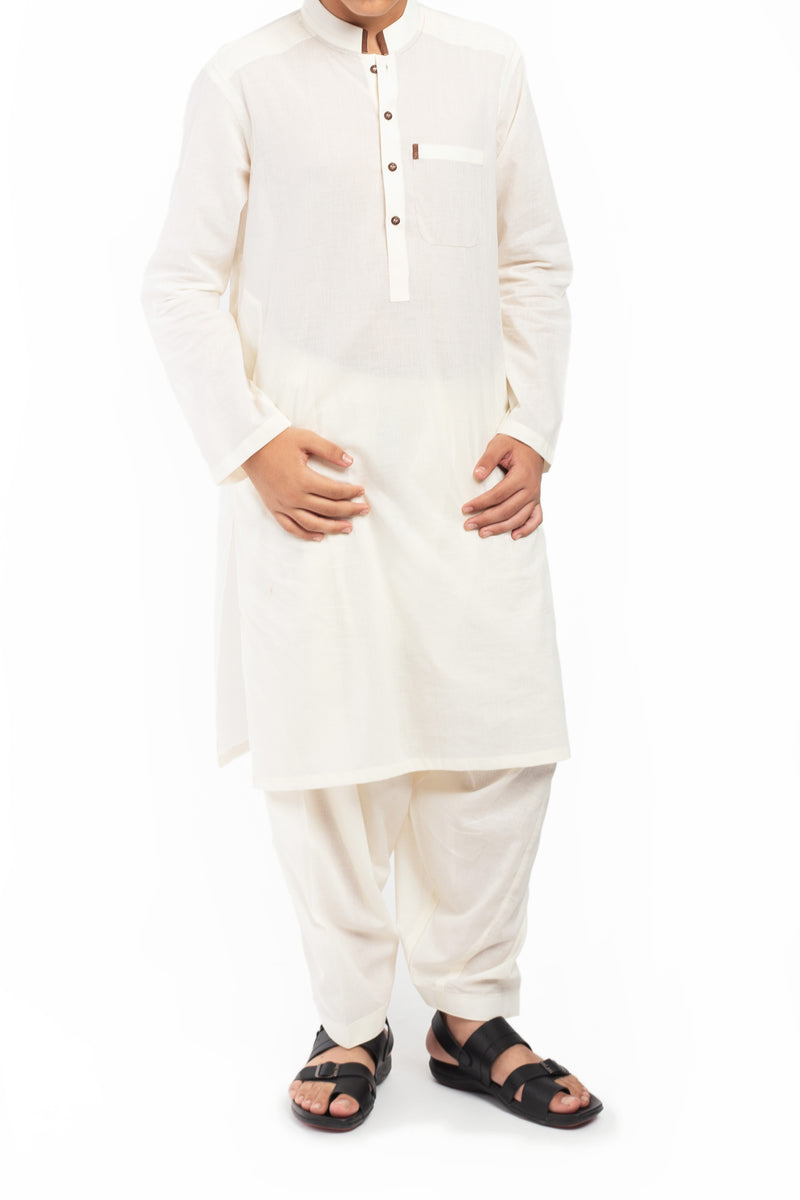 French Cream Shalwar Qameez BQ-39614
