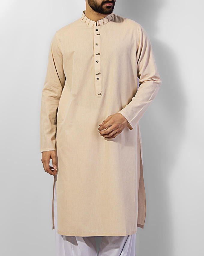 Image of Men Men Kurta in Fawn SKU: RK-15032-Small-Fawn