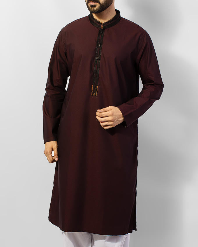 Image of Men Men Kurta in Maroon SKU: RK-15049-Small-Maroon