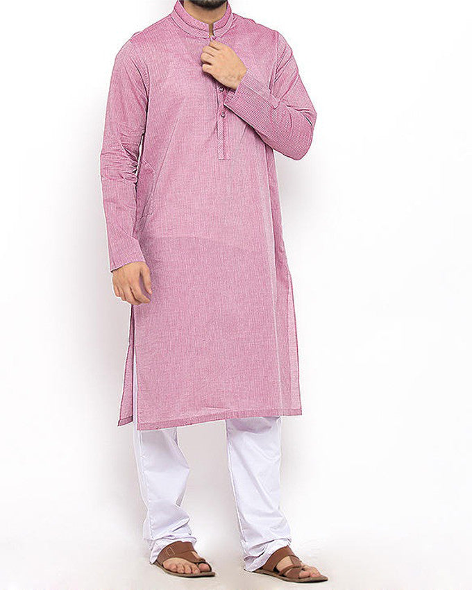 Image of Men Men Kurta in Lavender Pink SKU: RK-15302-Small-Lavender Pink