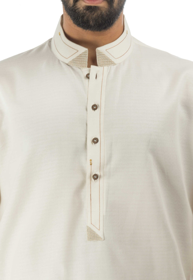 Image of Men Men Kurta in Cream SKU: RK-17142-Small-Cream