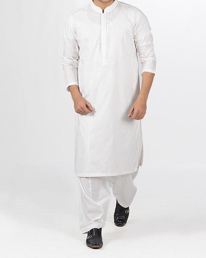 Image of Men Men Shalwar Qameez in White SKU: RQ-16106-Small-White