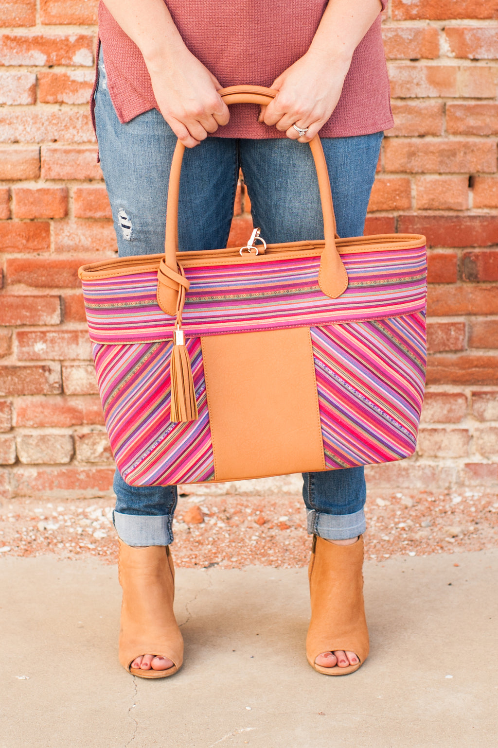 Serape Stripe Tote Bag