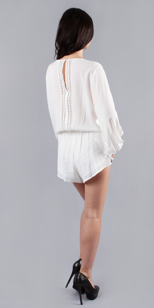 Ivory White Lightweight Lace Romper