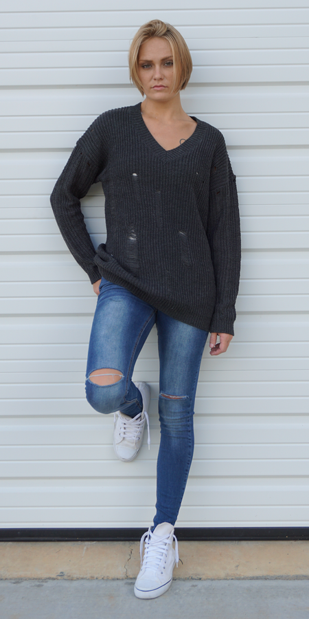 Buckle Wrap Wool Sweater Coat