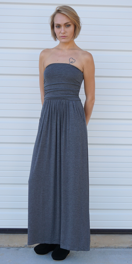Double Slit Tank Maxi Dress