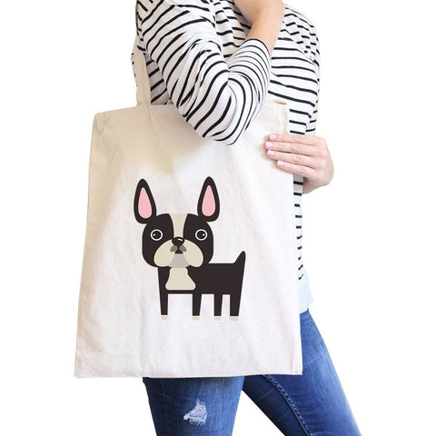 French Bulldog Natural Canvas Bags Gifts For French Bull Dog Owner