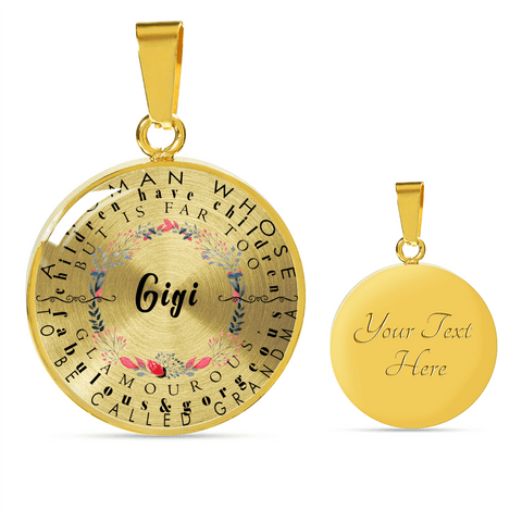 Gigi Definition Circle Necklace and Bracelet
