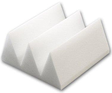 Acoustic 4ft X 6ft Sheet - White Wedge Style Soundproofing Foam (24 Sq. Ft. )