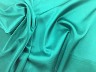 TEAL GREEN 60 inch 2 Way Stretch Charmeuse Satin-Super Soft Silky Satin - By The Yard