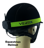 VERTIX Sportivo on Equestrian helmet with EM-01 | vertixglobal.com