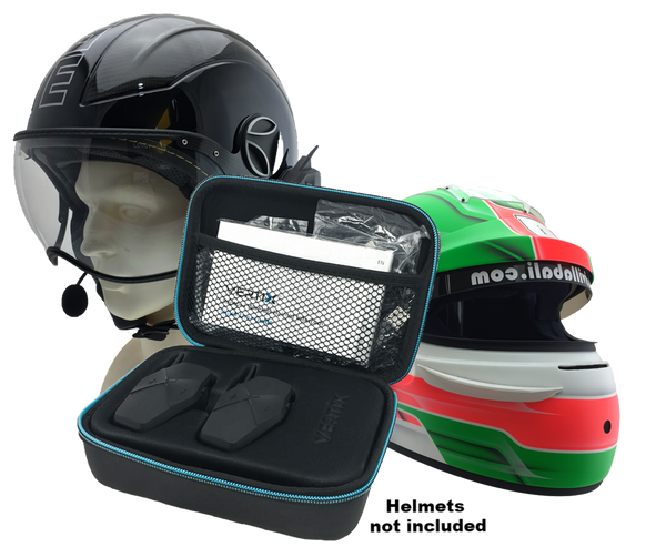 VERTIX Motorcycle Helmet Intercom in custom gift case