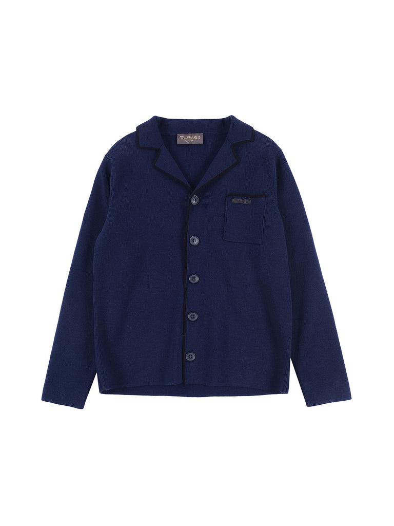 Trussardi Junior Blue Cardigan