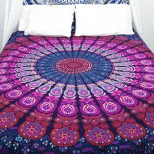 Pink Feather Tapestry