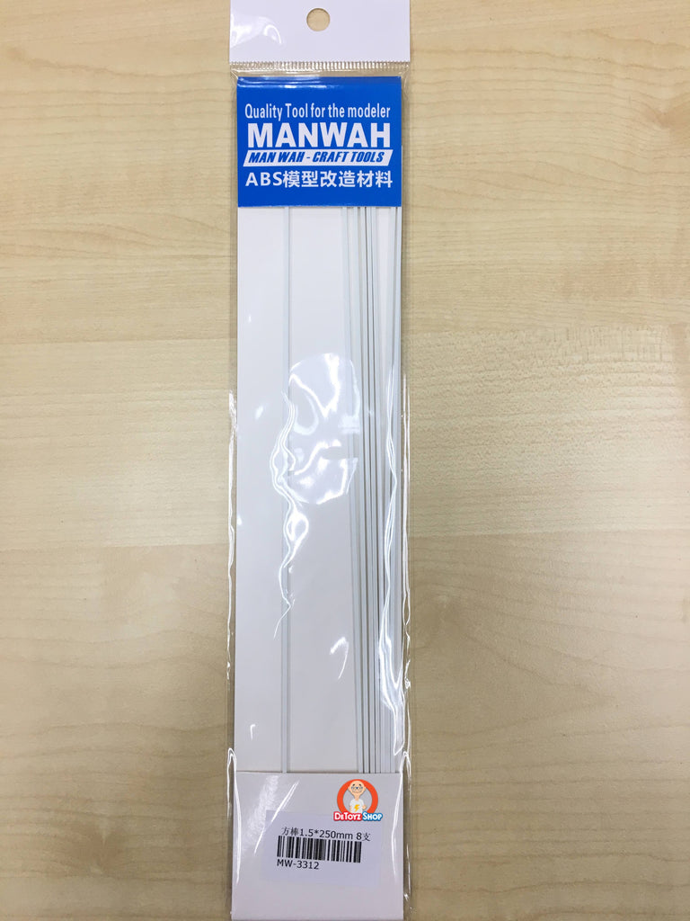Manwah ABS Beam - Square White (1.5mm)