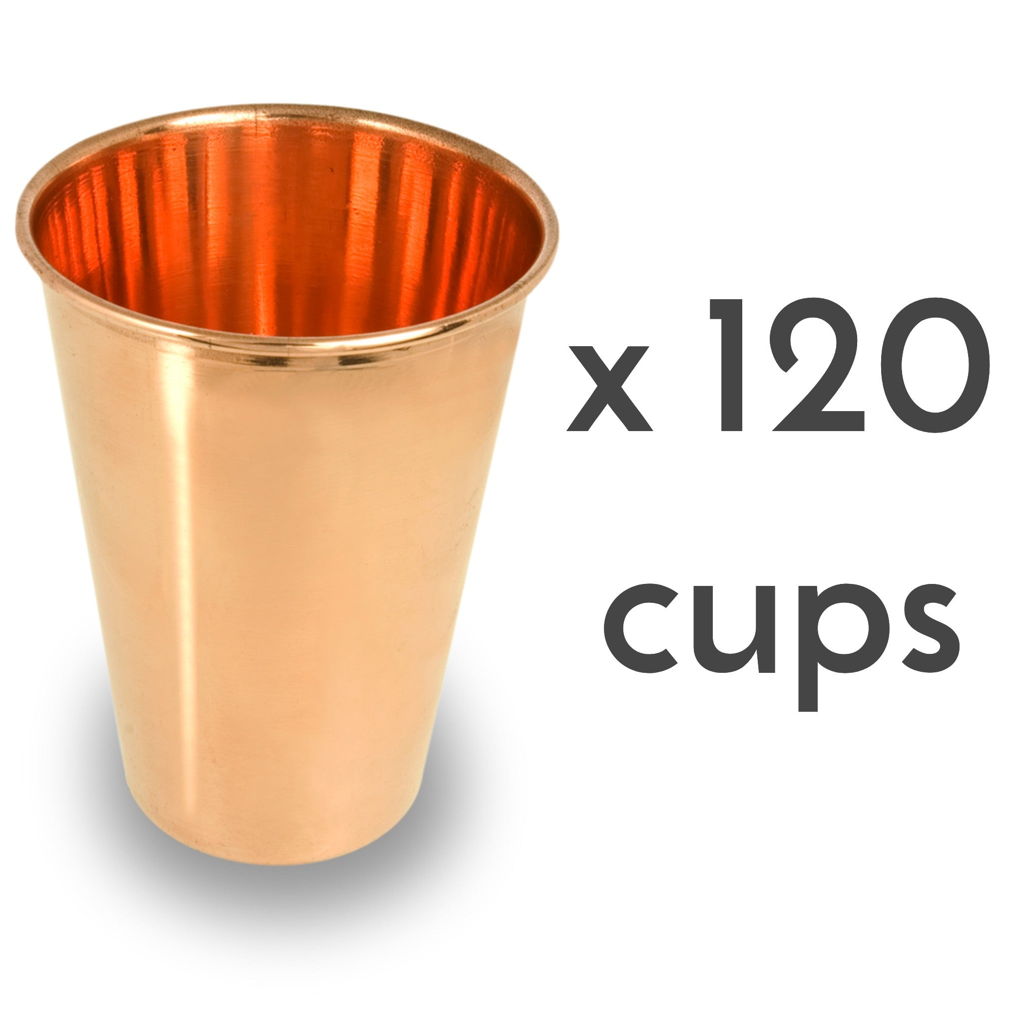 Ayurvedic pure copper drinking cups 120 units