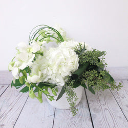 Burlington Florist - White Cloud - European Arrangements - EuroStyle Flower Market