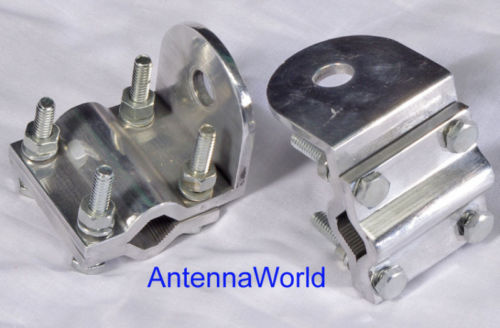 2 Lot CB Antenna Brackets Truck Mirror Mount 3-way NEW