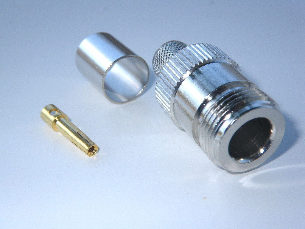 Coaxial RF Connector N-type Female Crimp on LMR400 9913