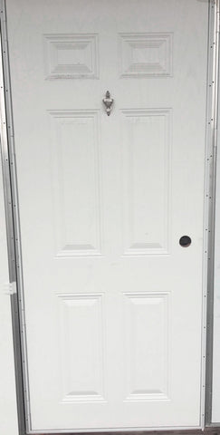 Elixir Six Panel Exterior Outswing Door with Knocker and Viewer L/H