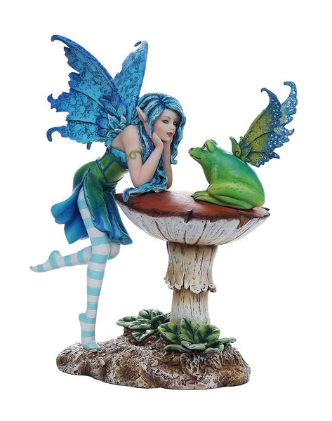Enchanting Frog Gossip Fairy Collectible Decorative Statue 6.5H Amy Brown