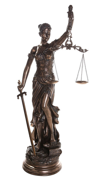Large 48 Inch Lady Justice Scales of Justice La Justitia Statue Lawyer Attorney Judge Collectible
