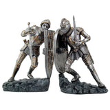 Medieval Time War Knights in Battle Decorative Bookends Set