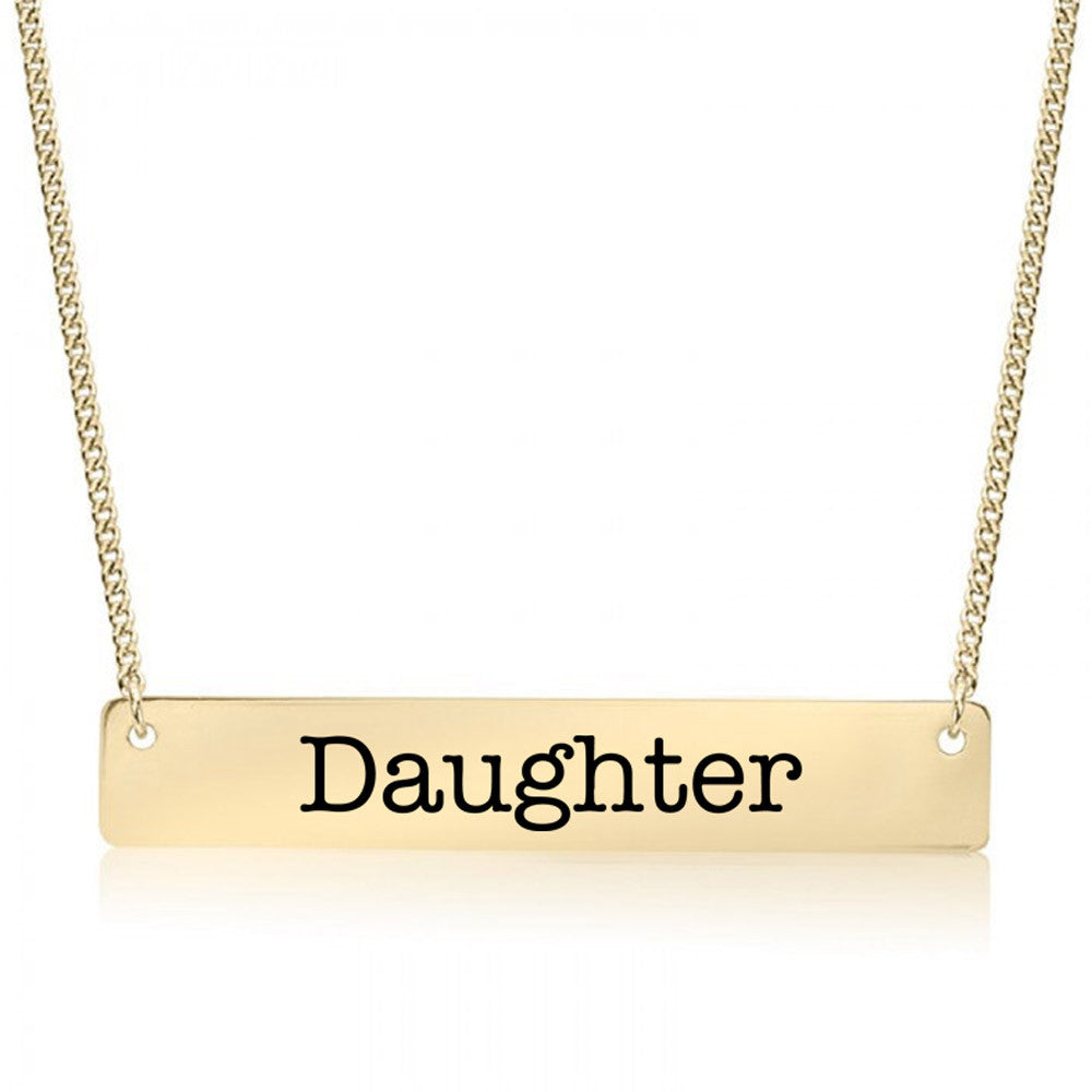 Daughter Gold / Silver Bar Necklace - pipercleo.com