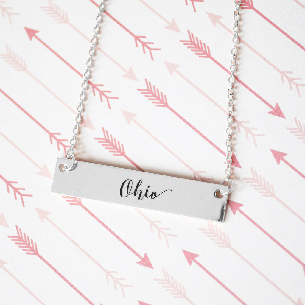 Ohio Gold / Silver Bar Necklace