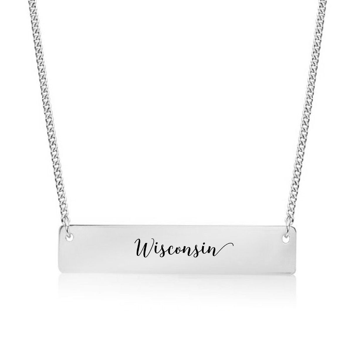 Wisconsin Gold / Silver Bar Necklace
