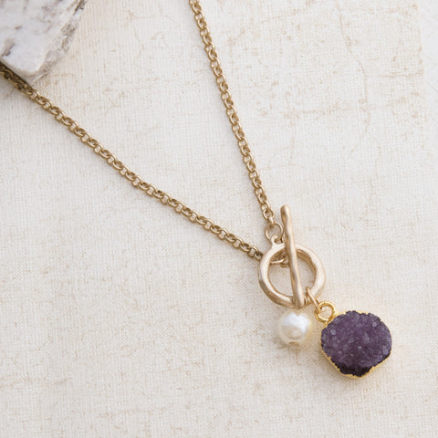 Healing Crystals Gold Necklace - pipercleo.com