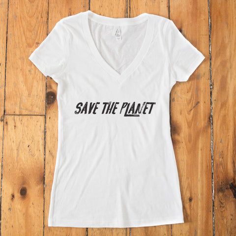 Save The Planet V-Neck T-shirt