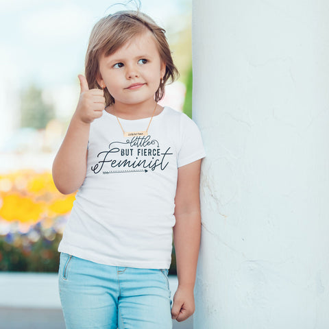 Little But Fierce Feminist Toddler Softstyle T-Shirt - pipercleo.com