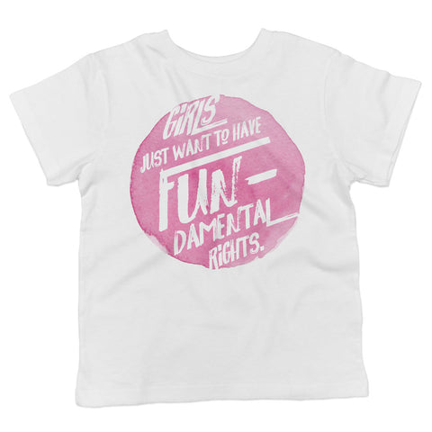Girls Just Want to Have Fundamental Rights Toddler Softstyle T-Shirt - pipercleo.com