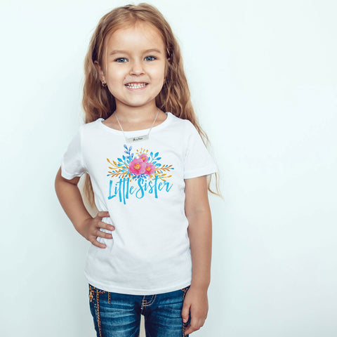 Little Sister Toddler Softstyle T-Shirt - pipercleo.com