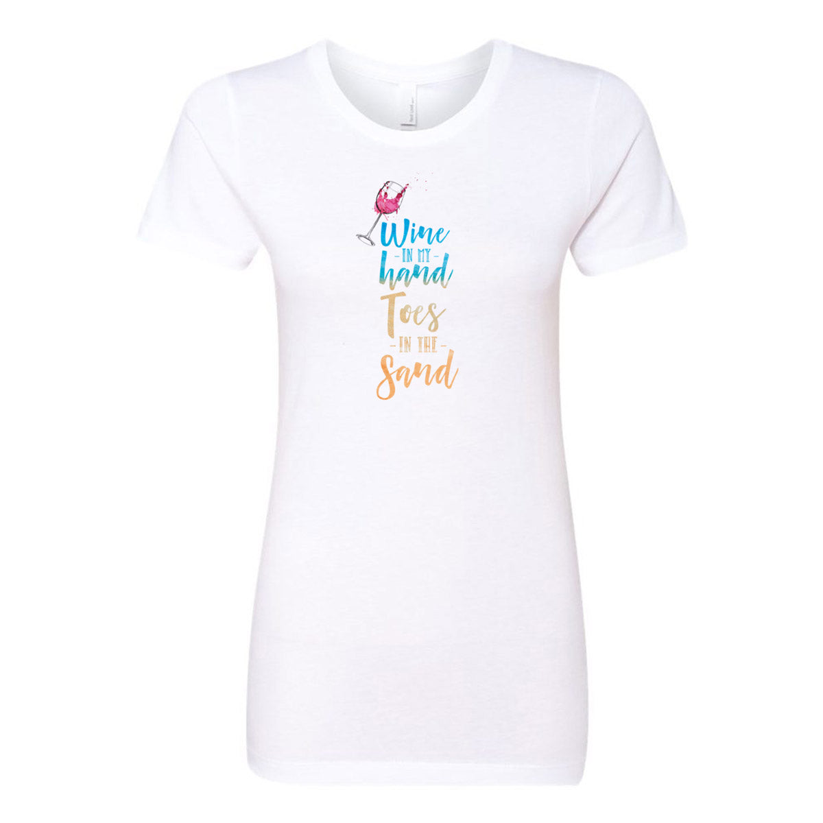 Wine in my Hand Toes in the Sand Ladies' Boyfriend T-Shirt