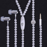 Pearl Plated Necklace Design Earphone