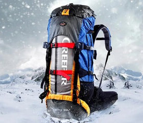 new Free Shipping Professional Waterproof Rucksack External Frame Climbing Camping Hiking Backpack Mountaineering Bag 60L f13