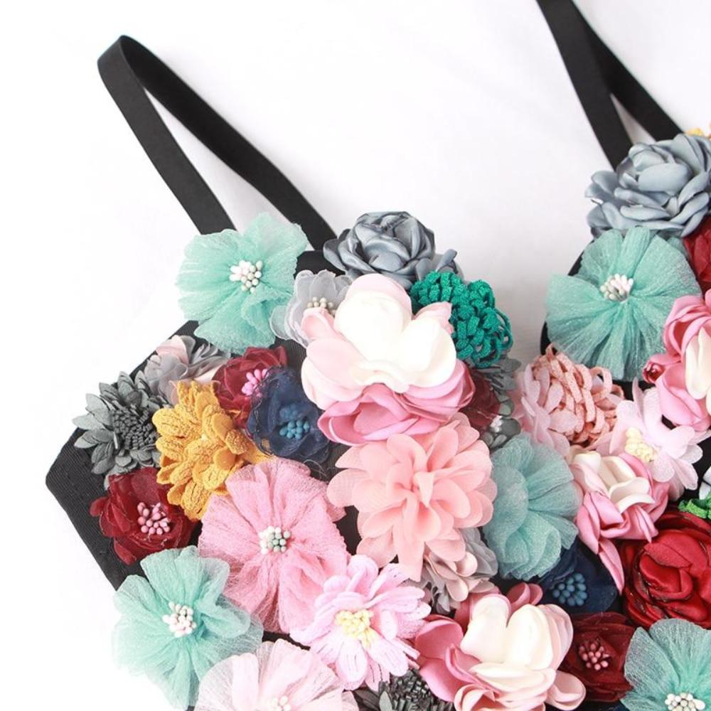 Floral Bustier Top by Mighty Mighty