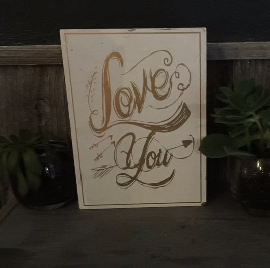"""Love You"" Sign"